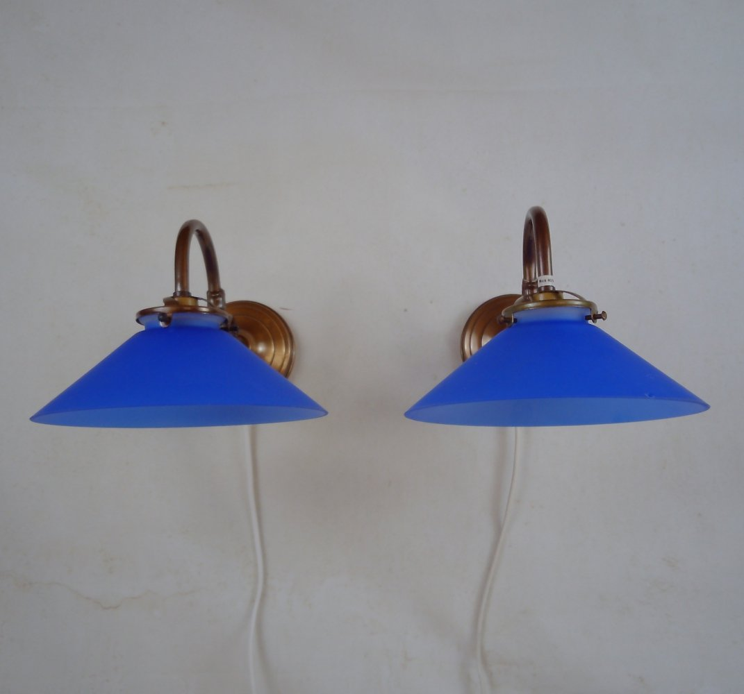 Pair of Wall coolie sconces by Gamla Stans Lampfabrik, Sweden 1980