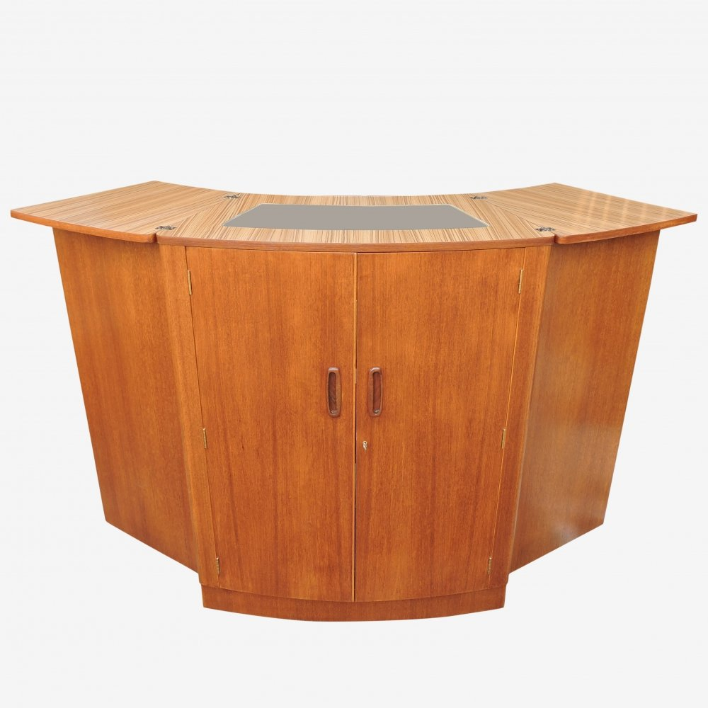 Teak Metamorphic Cocktail Cabinet Bar by Turnidge London, 1960s