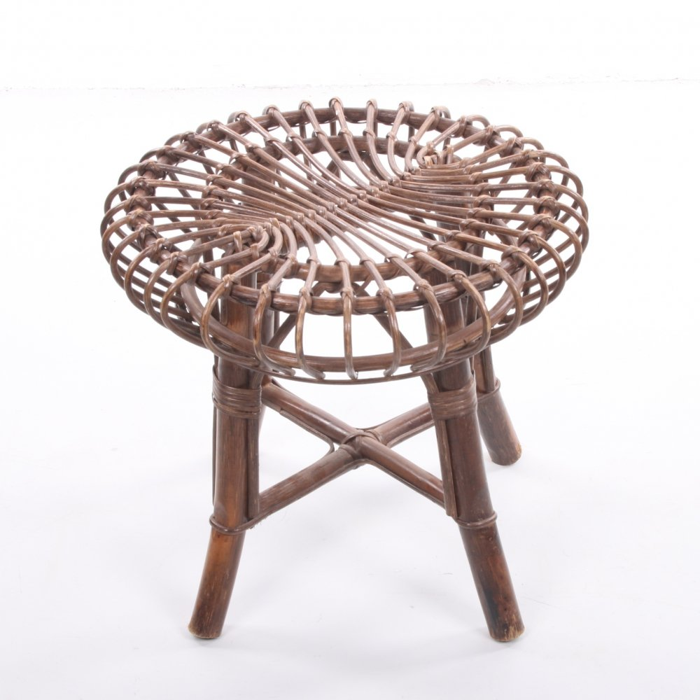Bamboo stool / side table, 1970s