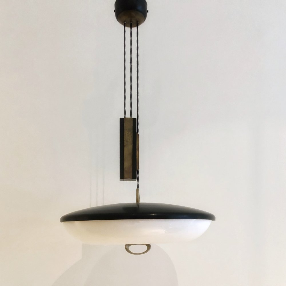 Early 1950s adjustable ceiling lamp by Stilnovo