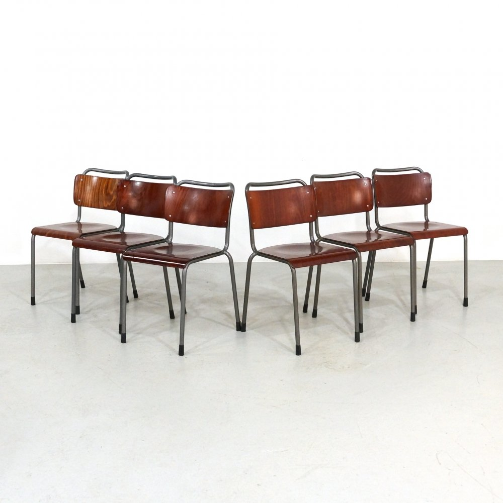 Set of 10 106 TU Delft dining chairs by W. Gispen for Gispen, 1960s