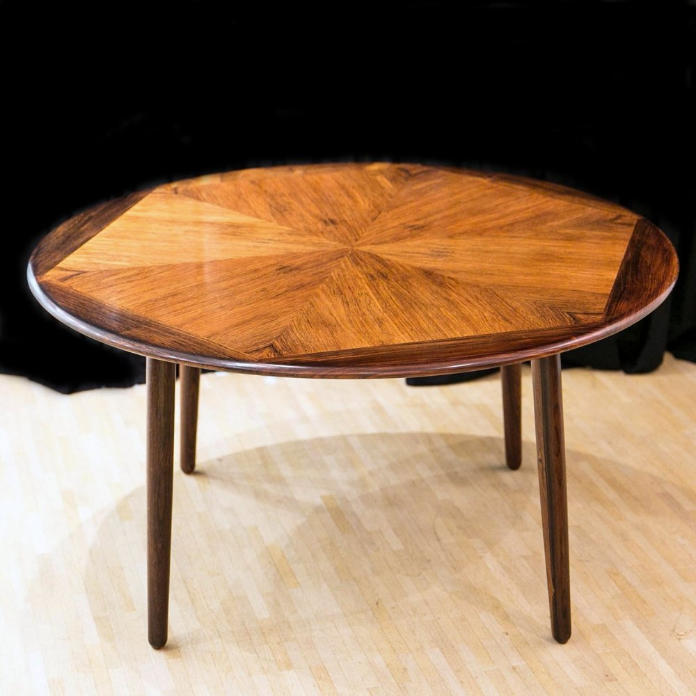 Rosewood coffee table by Henry W. Klein for Bramin, 1960