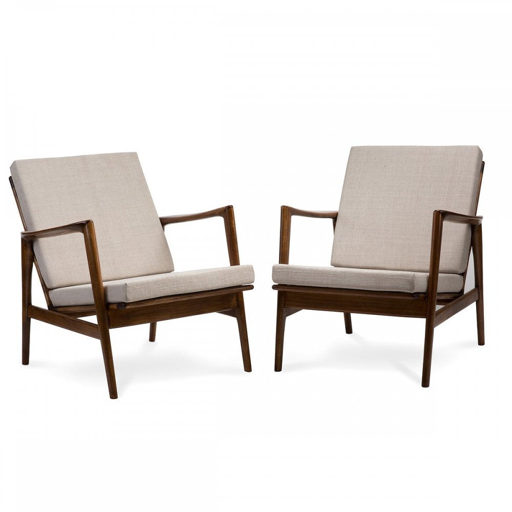 Pair of type 300-139 STEFAN armchairs, 1960s