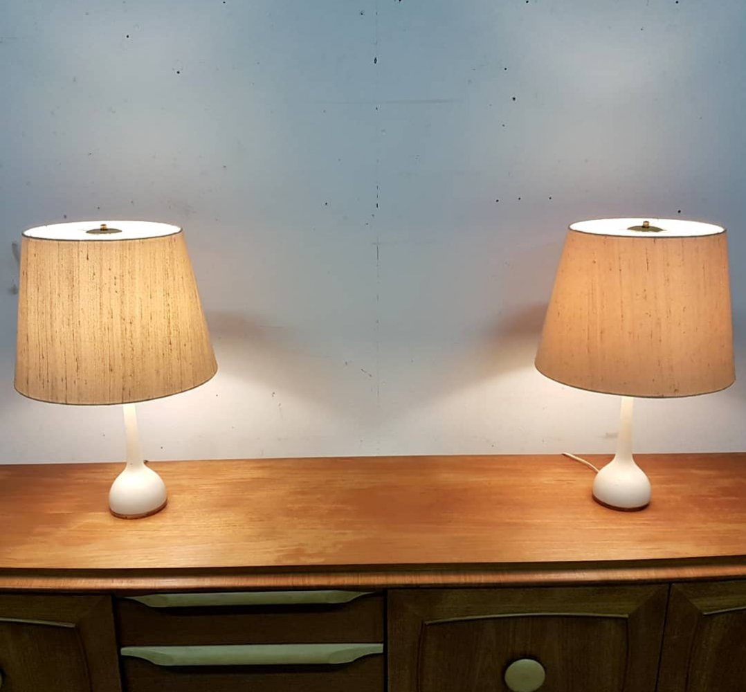 Set of 2 b44 table lamps by Hans Agne Jakobsson ab Markaryd, Sweden 1960s