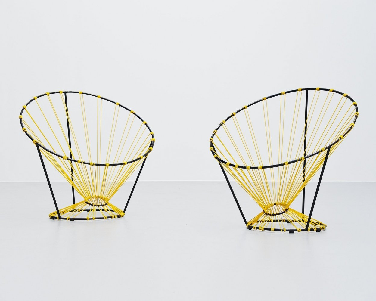 Pair of Coquetier chairs by A.R.P. Guariche Motte Mortier, France 1955