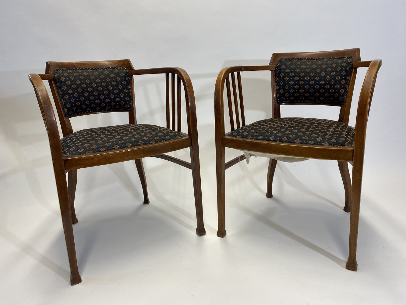 Iconic secession armchairs no.6513 by Gustav Siegel for Thonet, 1920s