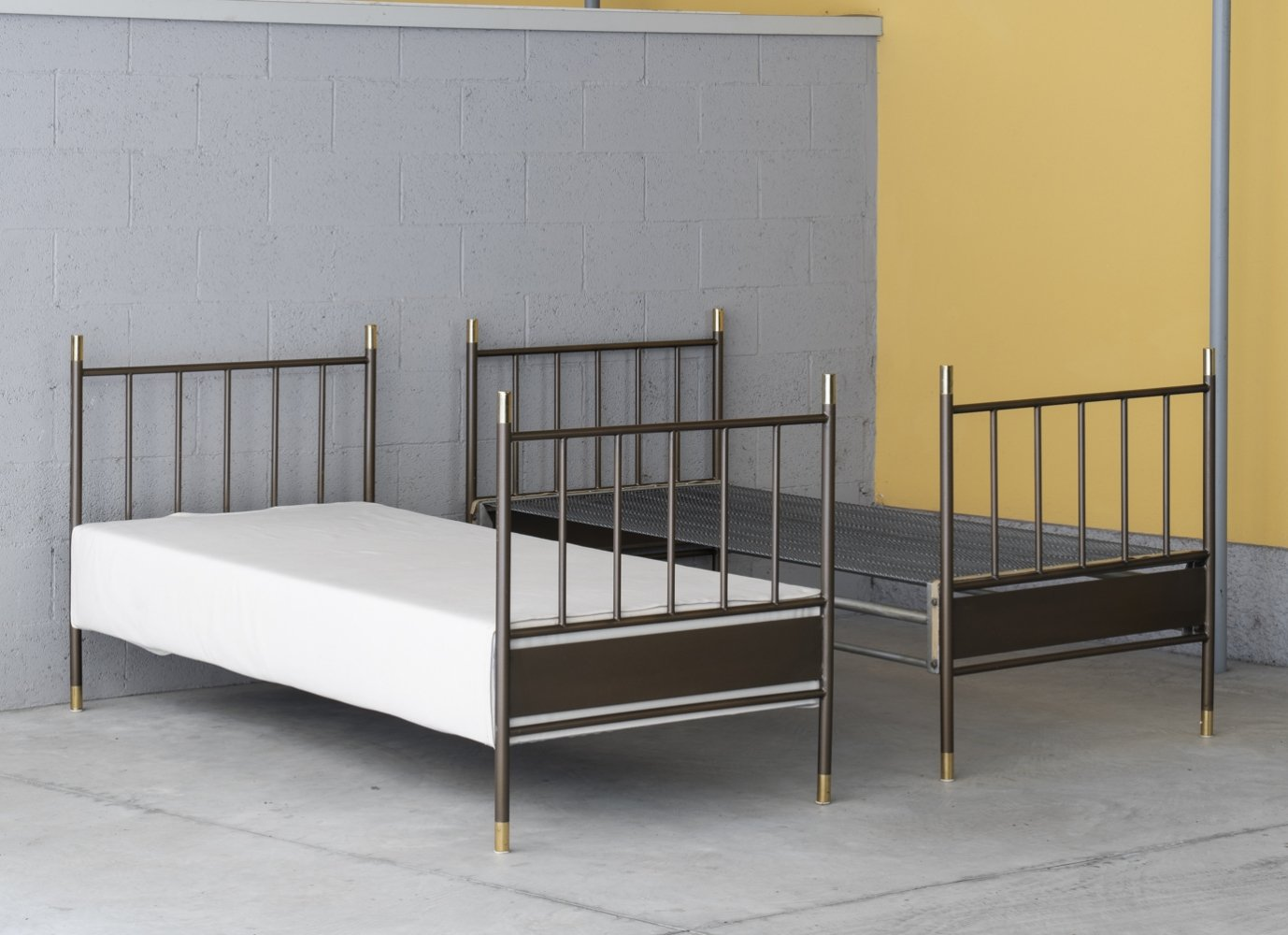 Pair of L1 twin beds by Luigi Caccia Dominioni for Azucena, 1950s