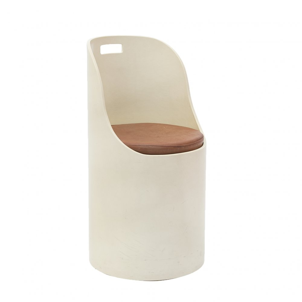 Ivory Space Age vintage chair, 1970s