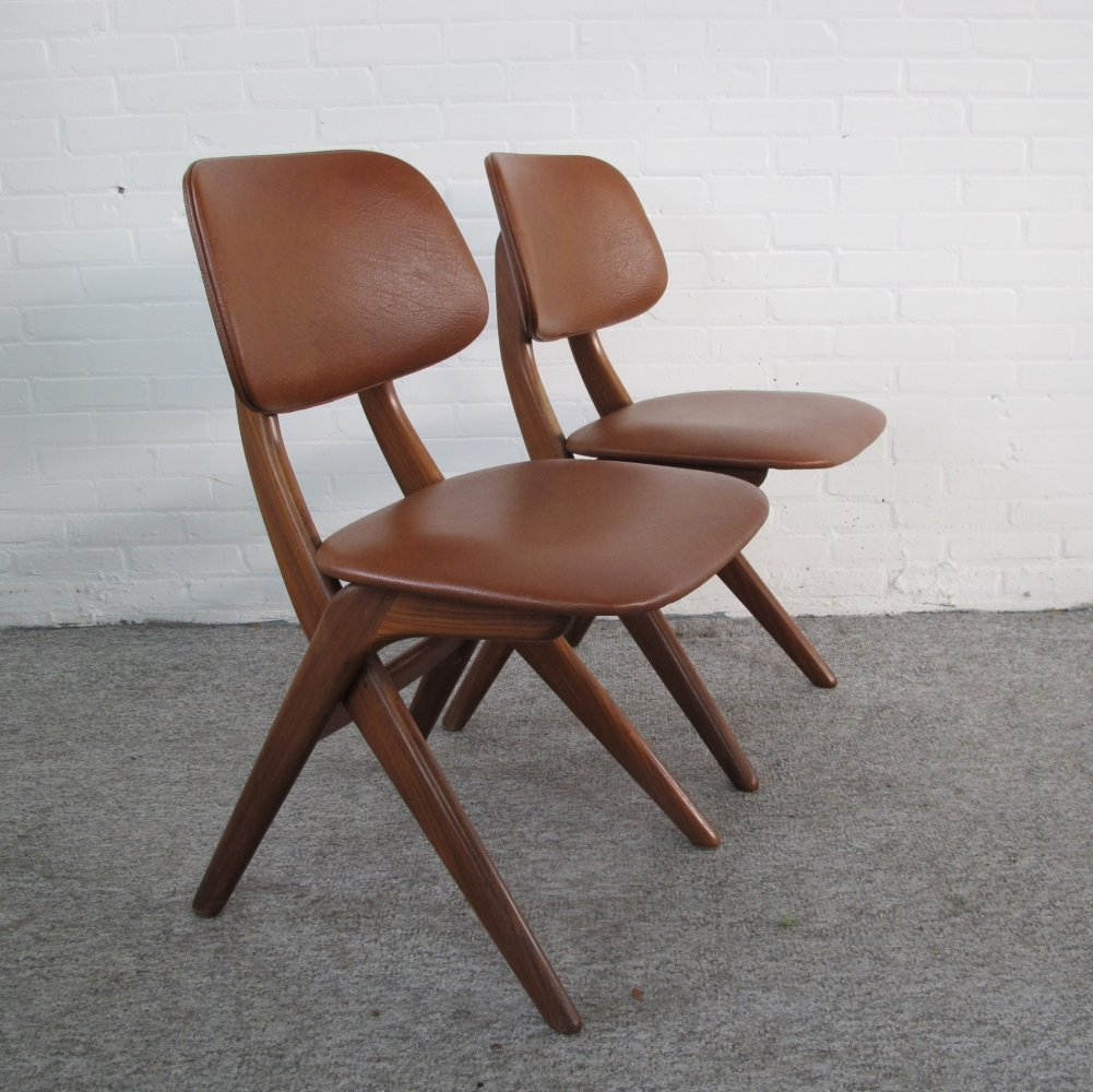 Set of two Pelican chairs by Louis van Teeffelen, 1960