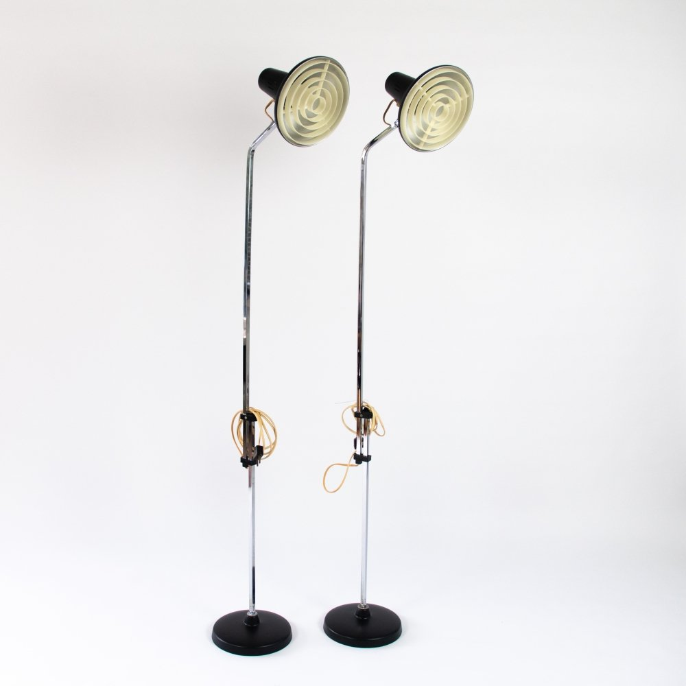 Vintage modern black Danish design floor lamp, 1960