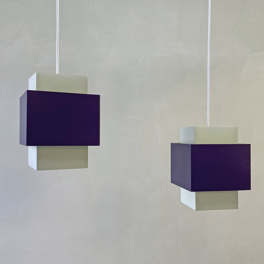 Pair of Selectra hanging lamps by Hans Agne Jakobsson, 1960s