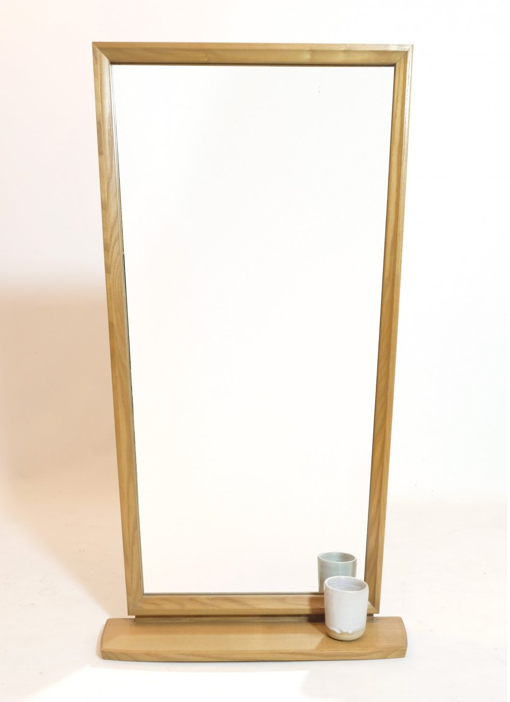 Large mirror with a shelf, 1960s