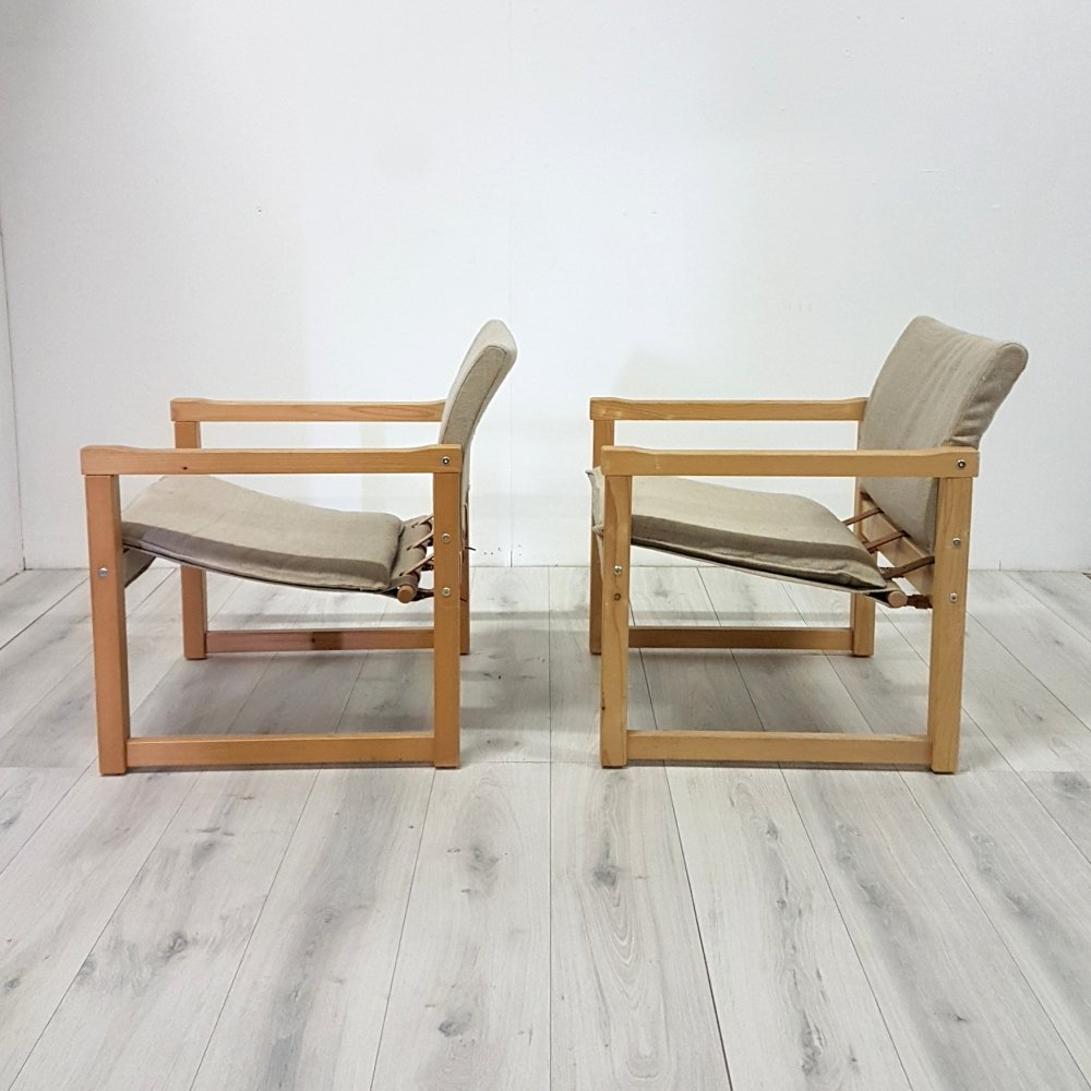 Pair of Diana lounge chairs by Karin Mobring for IKEA, 1970s