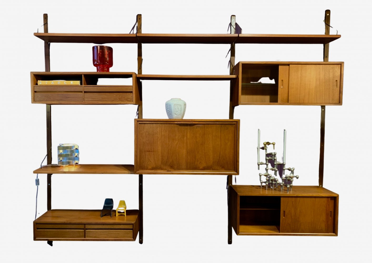 Large Cadovius wall unit with shelving, cabinets, drawers & writing desk