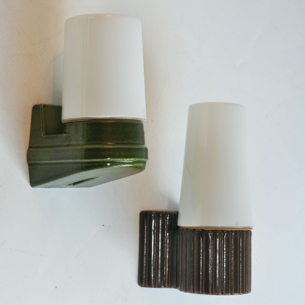2 x wall lamp by Sigvard Bernadotte for IFO Sweden, 1970s