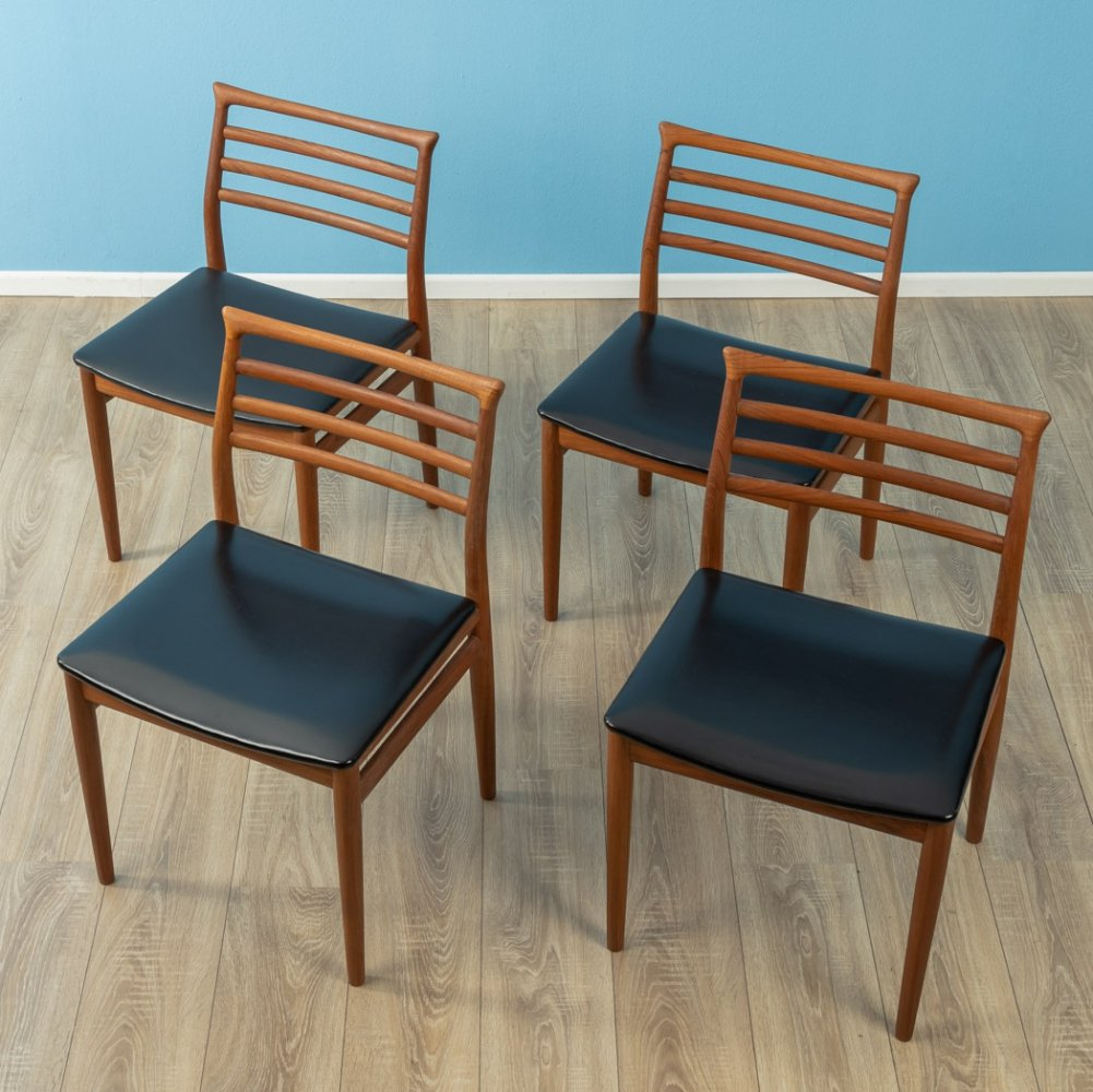 Set of 4 dining chairs by Erling Torvits for Sorø Stolefabrik, 1960s