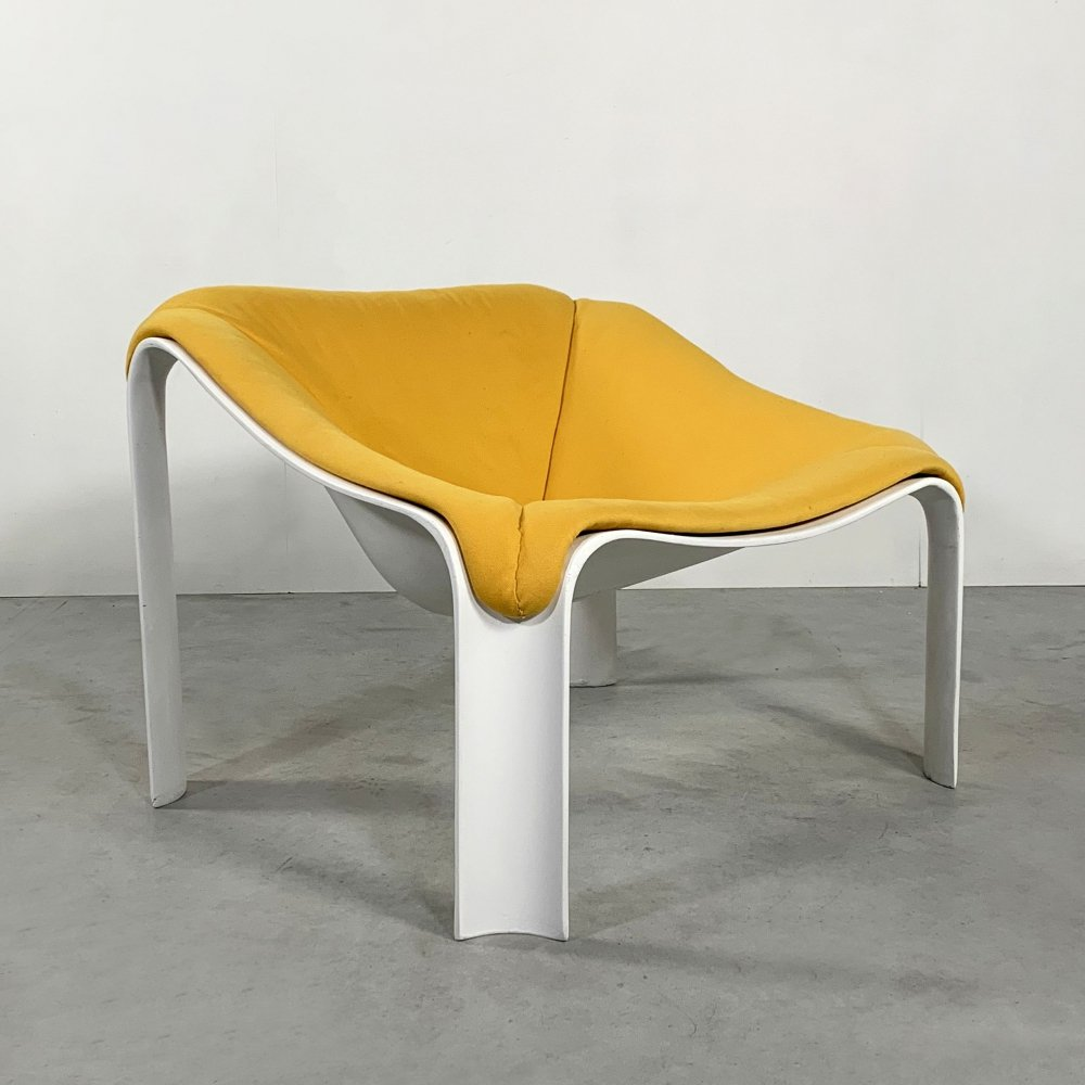 Yellow F300 Lounge Chair by Pierre Paulin for Artifort, 1960s