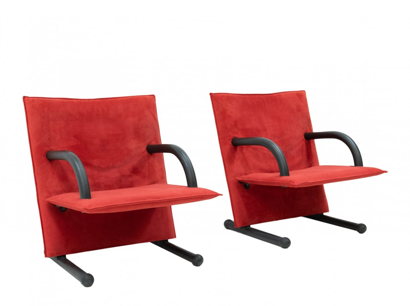 Pair of Easy Chairs by Burkhard Vogtherr for Arflex Italy, 1980s