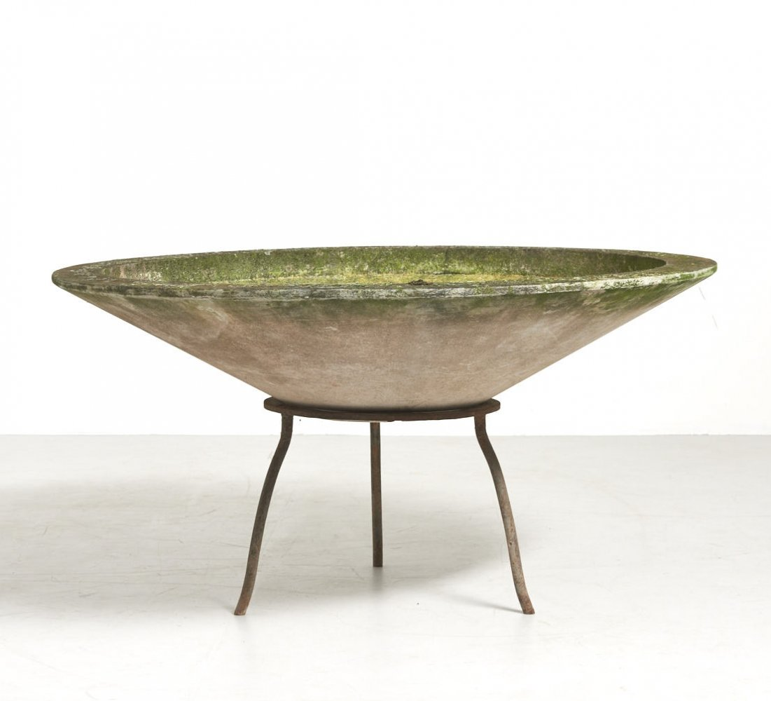 Large Planter Bowl by Willy Guhl for Eternit SA, Switzerland 1950