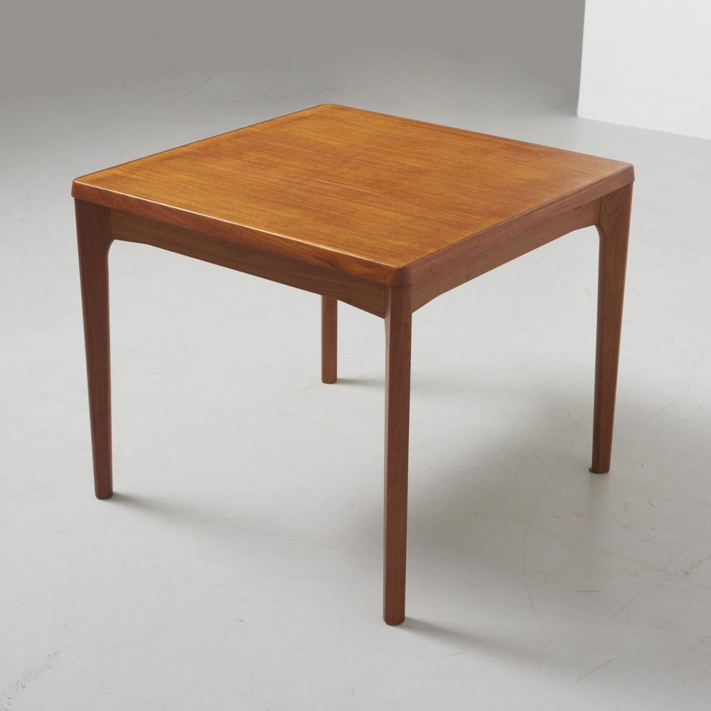 Small Square Dining Table by Henning Kjaernulf for Vejle, Denmark 1960