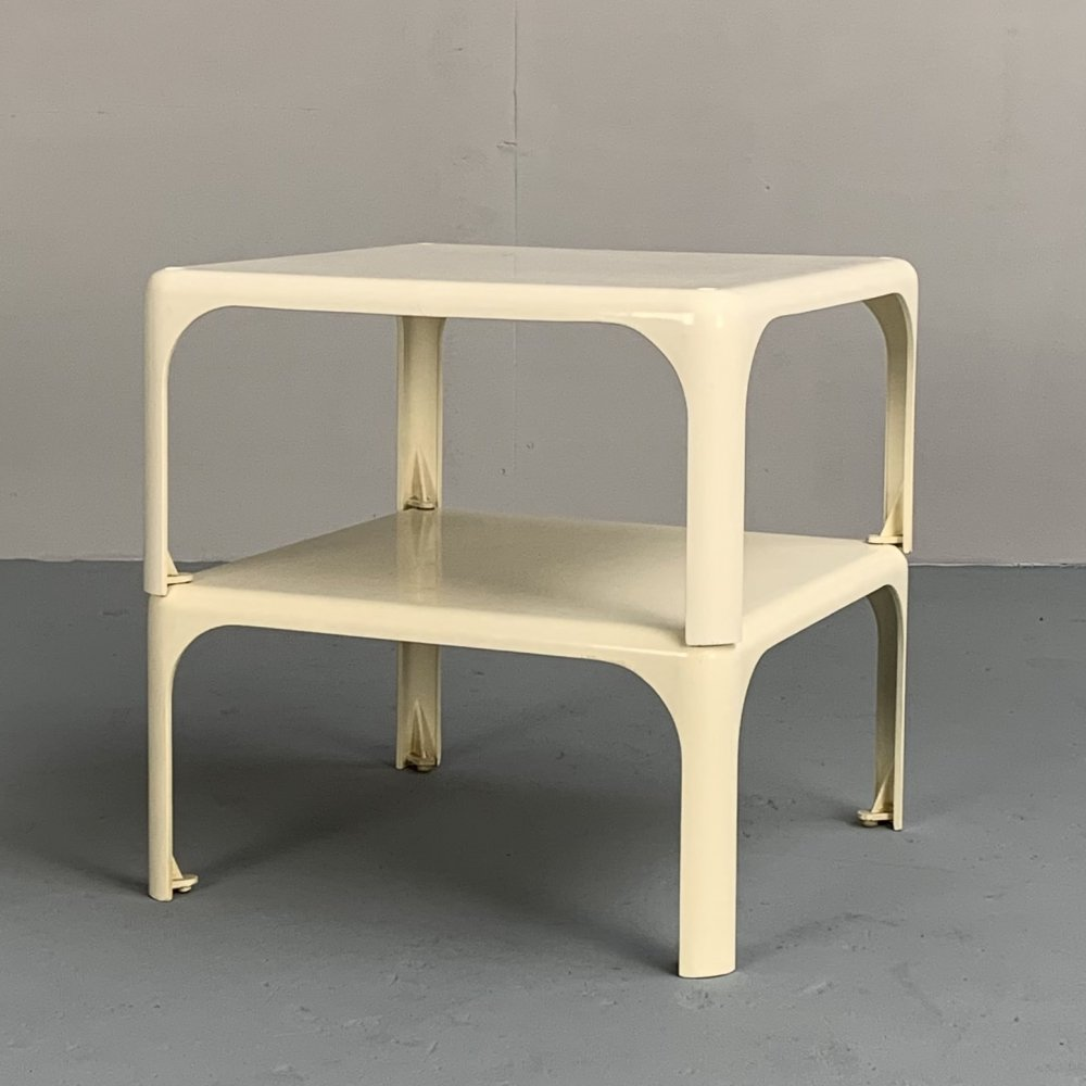 Pair of Demetrio stacking tables by Vico Magistretti for Artemide, Italy 1966