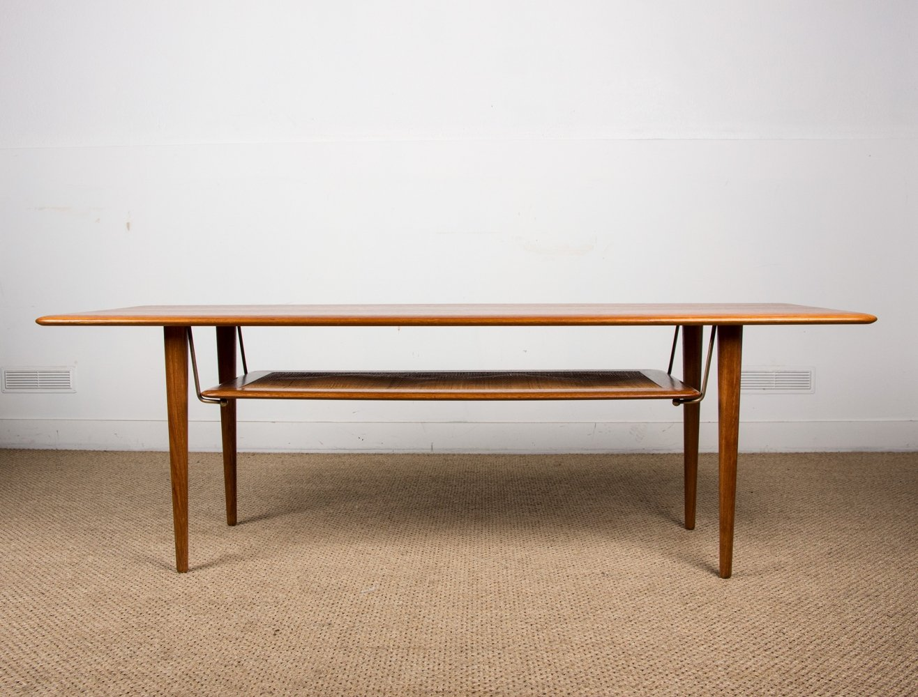 Large double levels Danish Coffee Table by Peter Hvidt & Orla Molgaard Nielsen