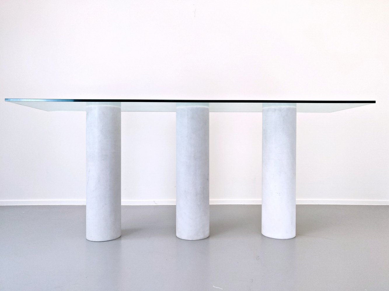 Italian Console With Glass Top, 1970s