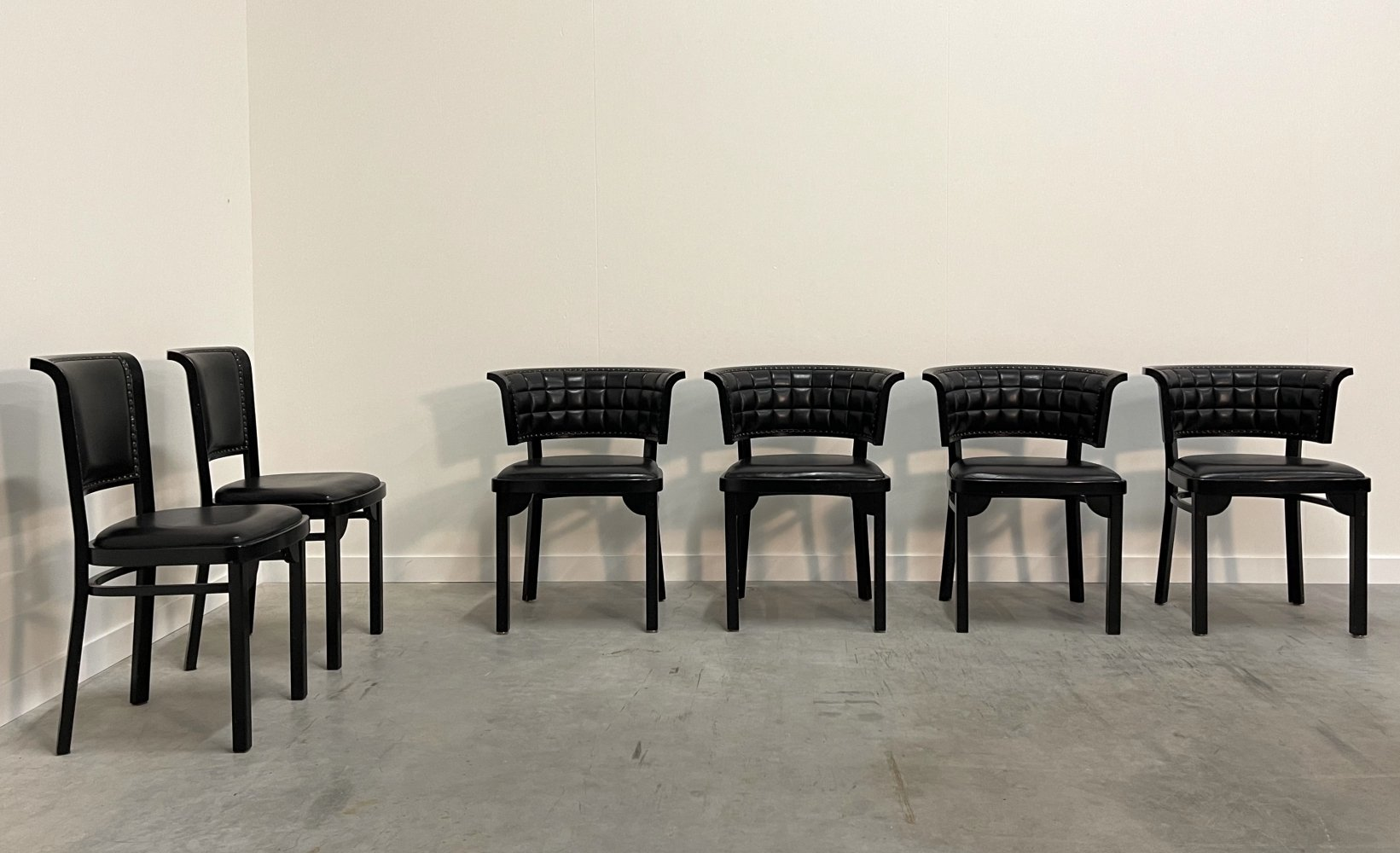 Set of 6 vintage design dining chairs by Thonet Vienna, 1980s