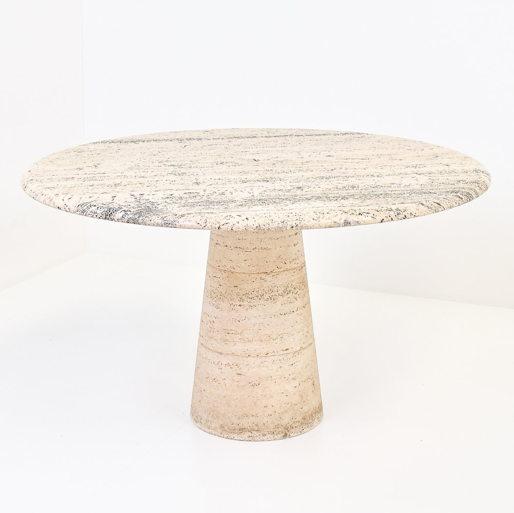 Travertine Dining Table by Up&Up, 1970s