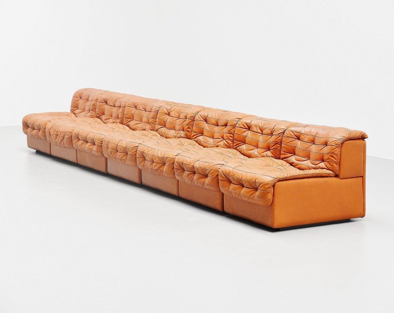 De Sede DS11 sectional sofa in natural leather, Switzerland 1970