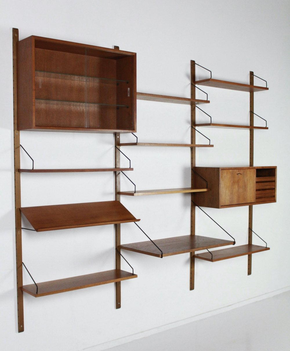Royal System wall unit by Poul Cadovius for Cado, Denmark
