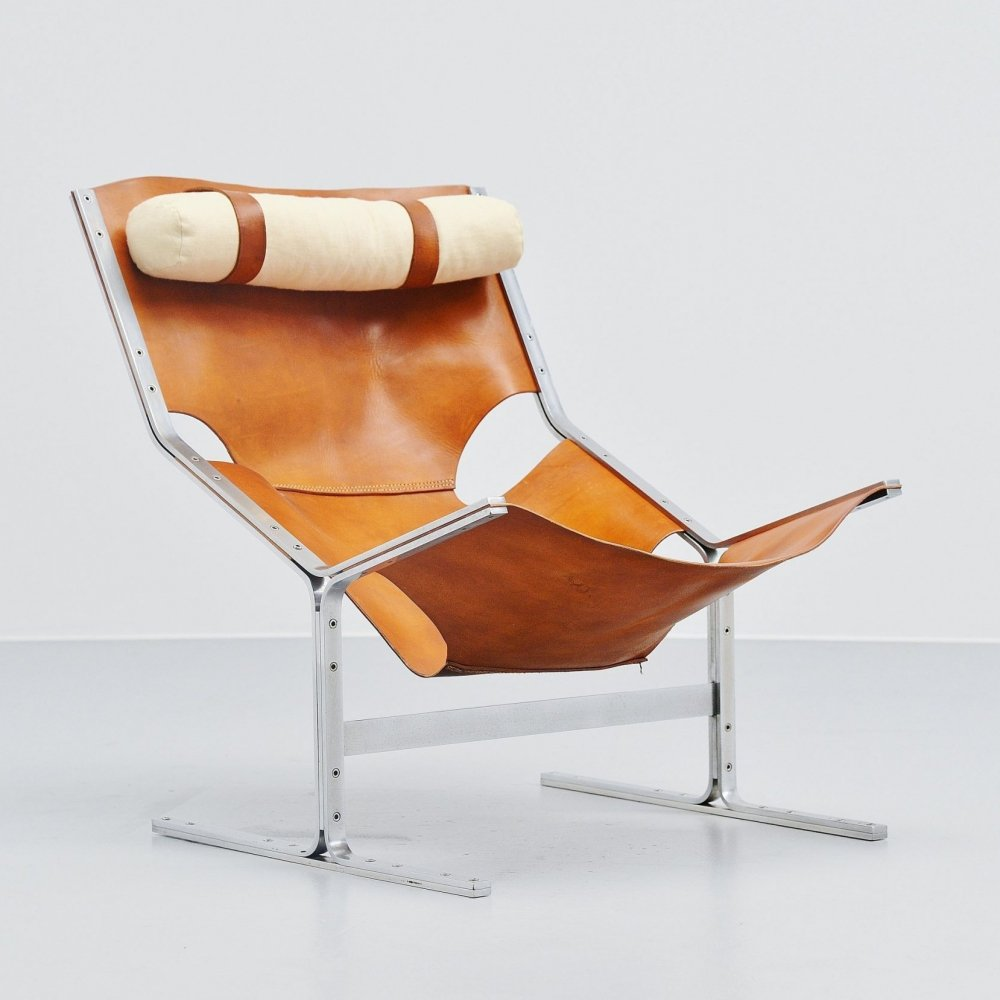 Pierre Thielen sling lounge chair by Metz & Co, Holland 1960s