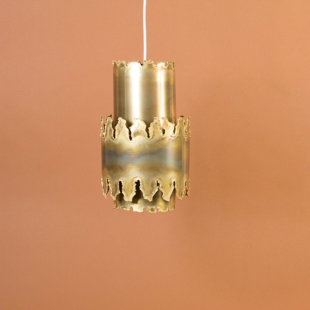 Hot-cut & patinated brass suspension by Svend Aage Holm Sorensen, 1960s