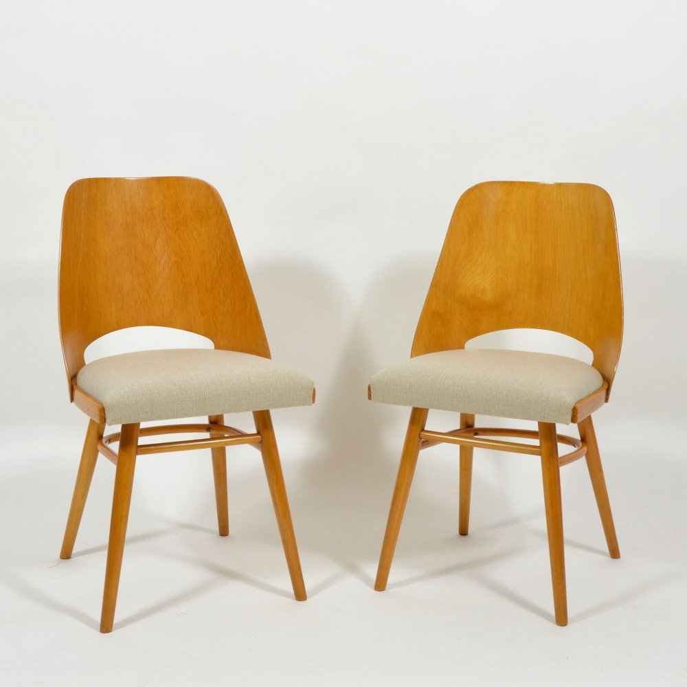 Pair of chairs by TON, 1970s