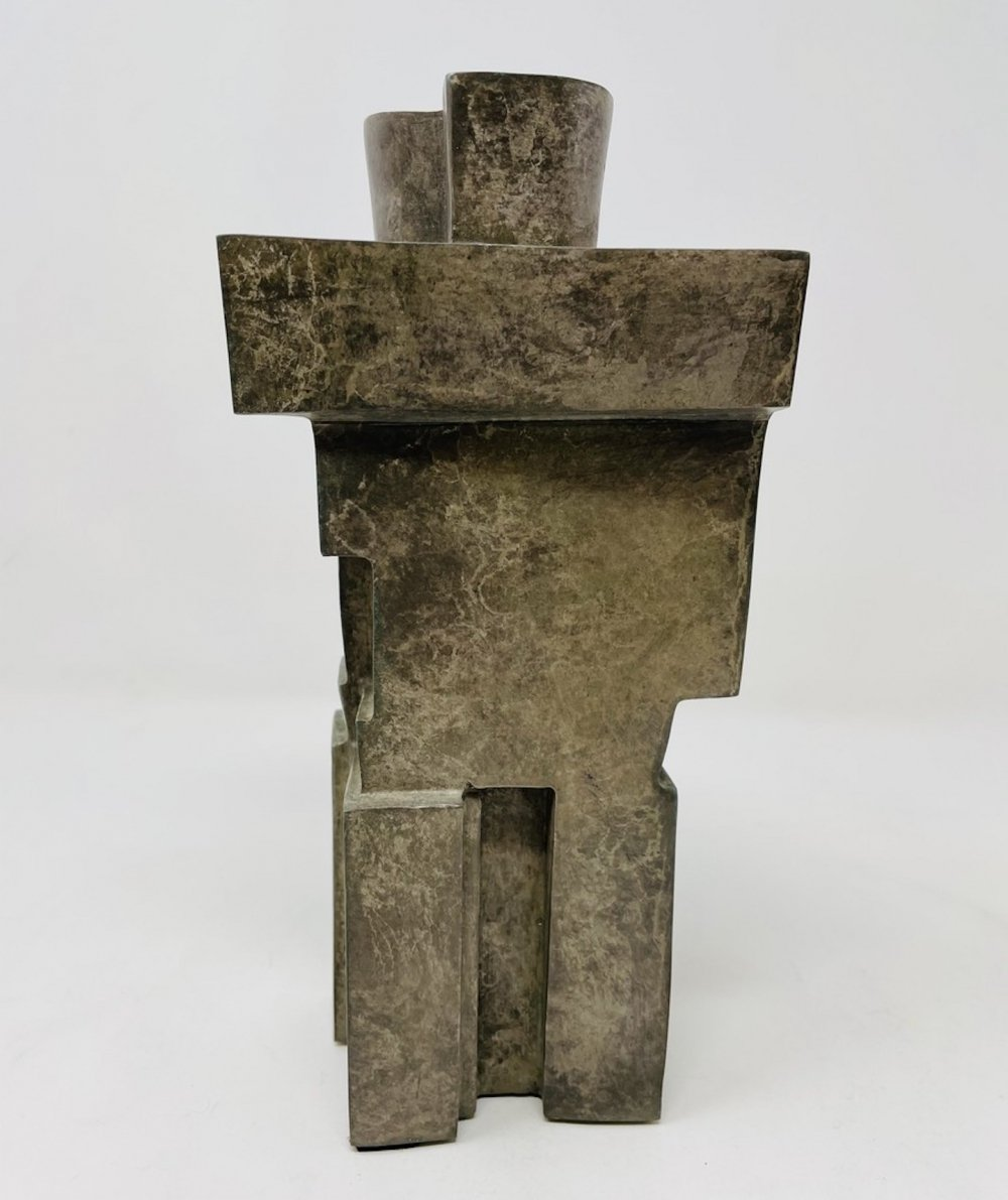Cubist Bronze Sculpture
