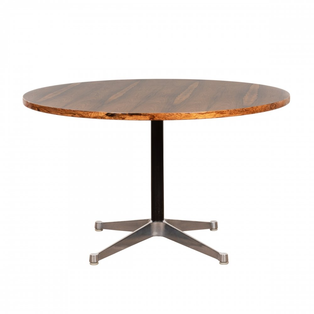 Eames Contract Base Dining Table in Rosewood, 1970s