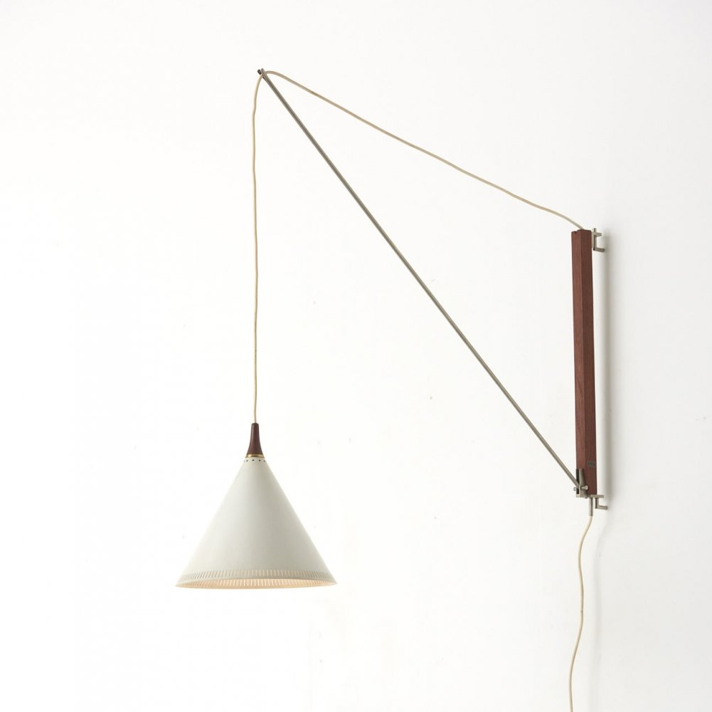 Swing Arm Wall Lamp by Willem Hagoort, Netherlands 1950