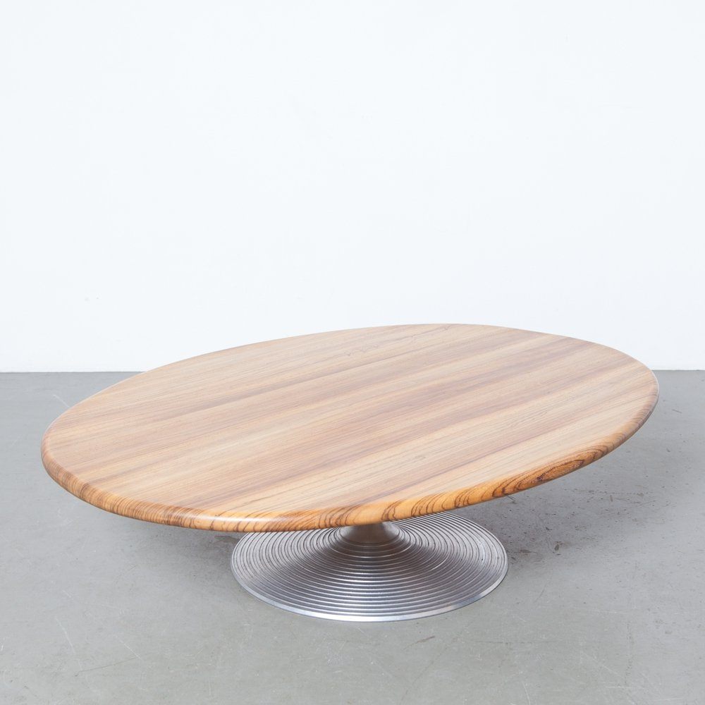 Zebrano oval coffee table by CAR Katwijk, 1990s