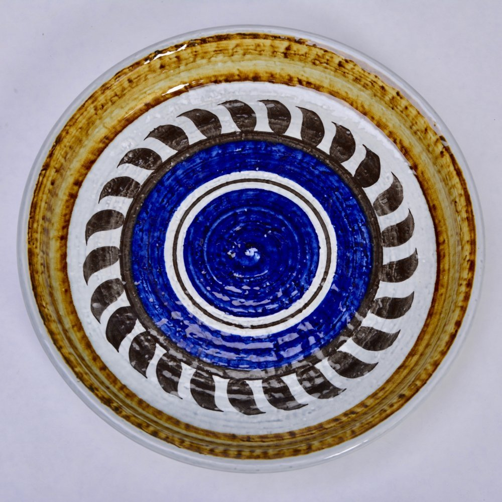Titus Ceramic Plate by Olle Alberius for Rörstrand, 1960s