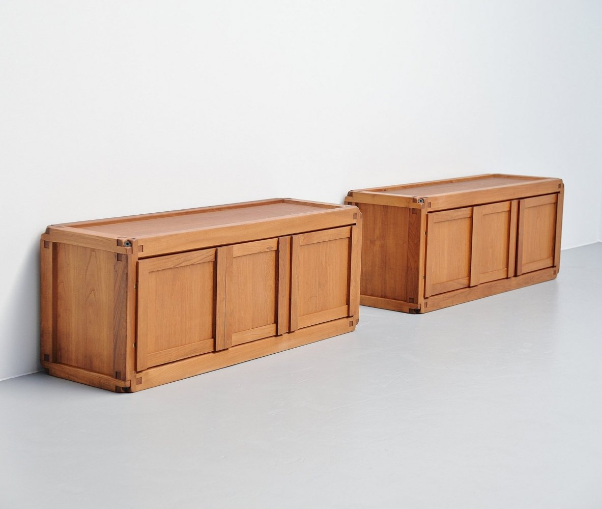 Pair of Pierre Chapo B10 cabinets, France 1962