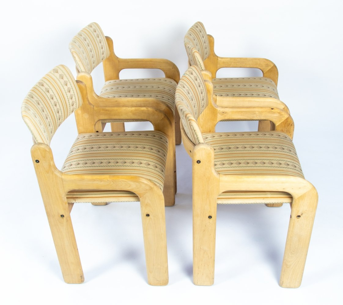 Vintage design Finnish dining chairs by Eero Aarnio for Asko, 1970