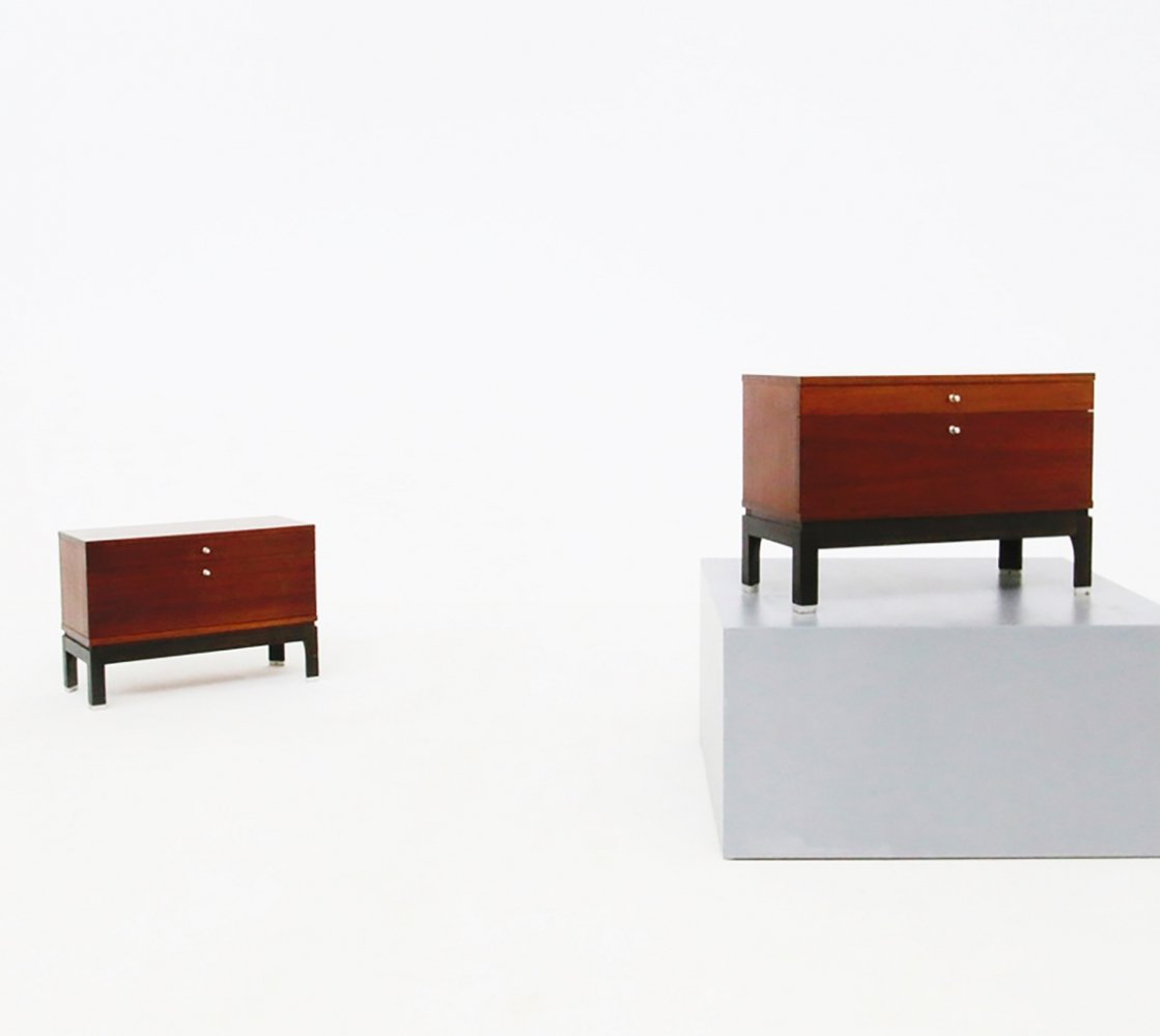 Pair of Wooden Bedside cabinets by MiM, 1960s