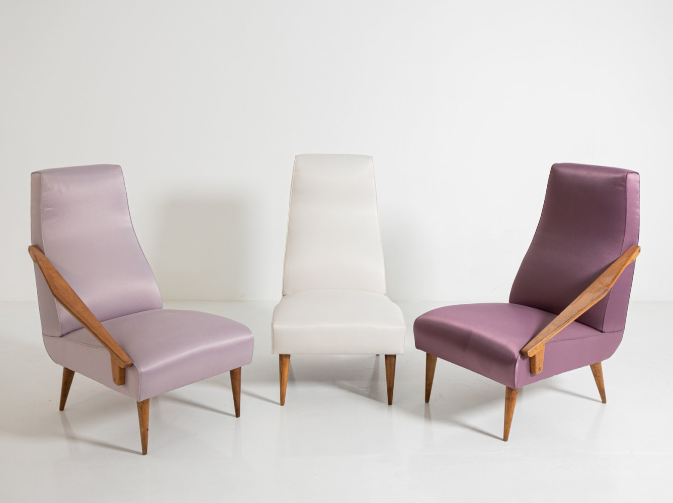 Set of three armchairs by Gio Ponti for Boucher & Fils Edition, 1950s