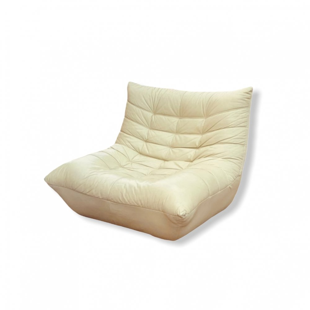 Vintage lounge chair in leather, 1980s