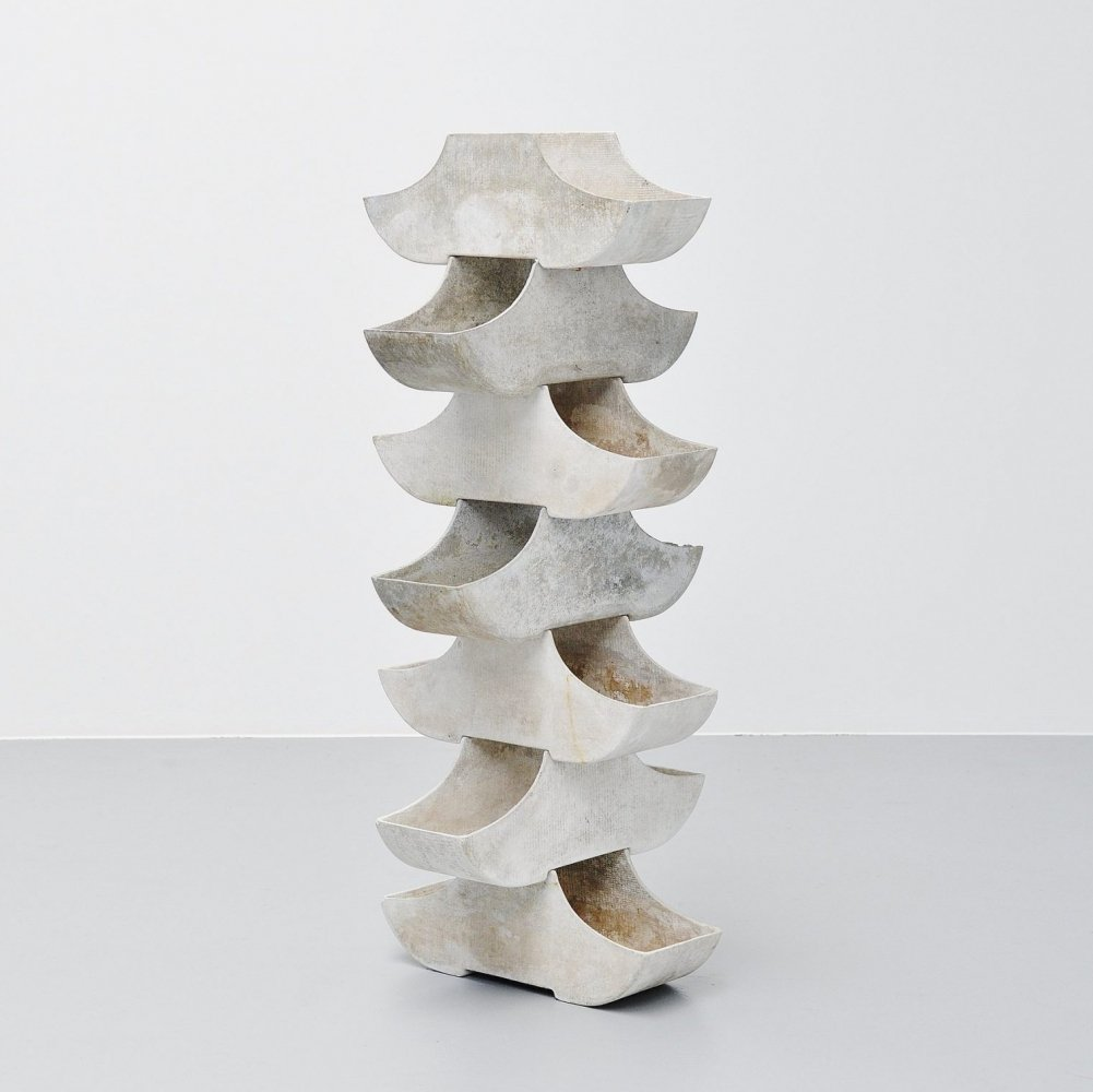Willy Guhl stacking planters by Eternit Switzerland, 1960