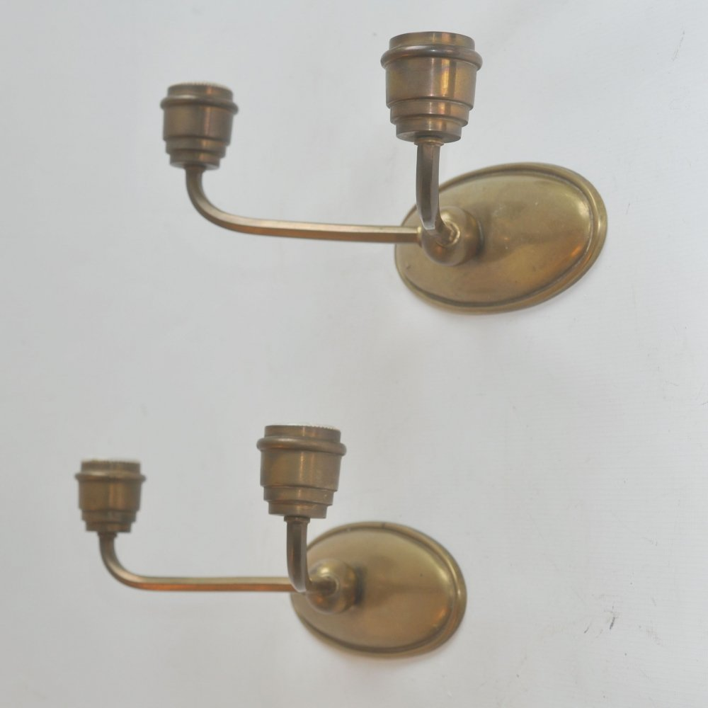 Pair of French double sconces, 1950s