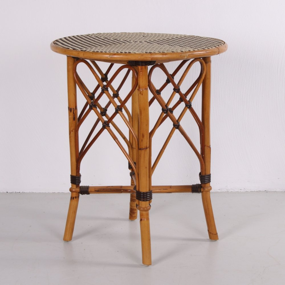 Vintage rattan / bamboo table, 1960s