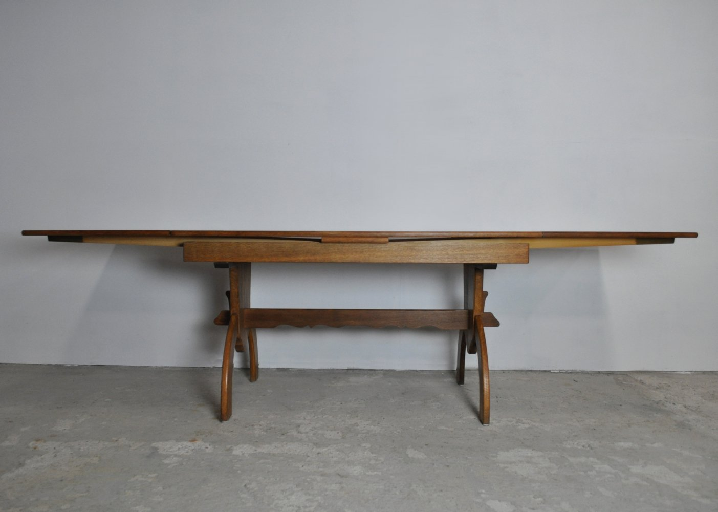 Large Dining Table designed by Henning Kjærnulf