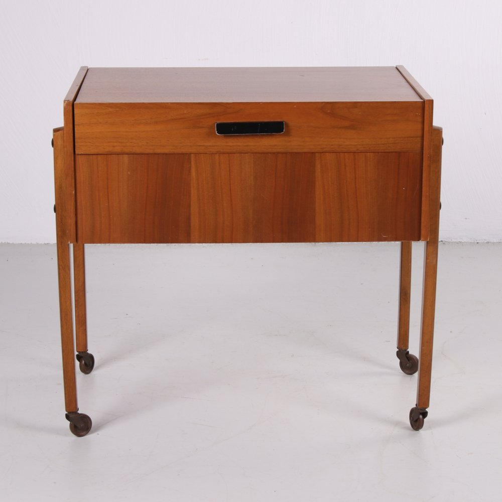 Wooden vintage sewing box, 1950s