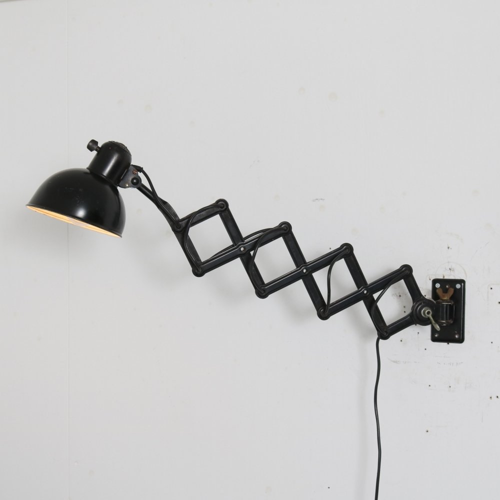 1950s Scissor lamp by Christian Dell for Dell, Germany